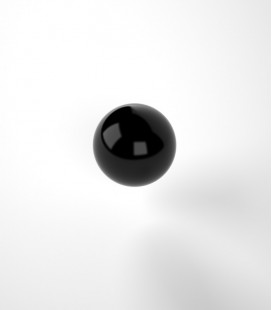 Black bakelite sphere