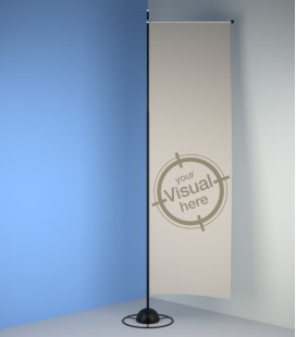 Light fabric banner holder