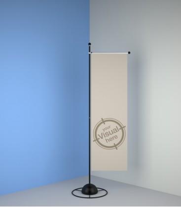 Porte-Bannière 209 ou 259 cm